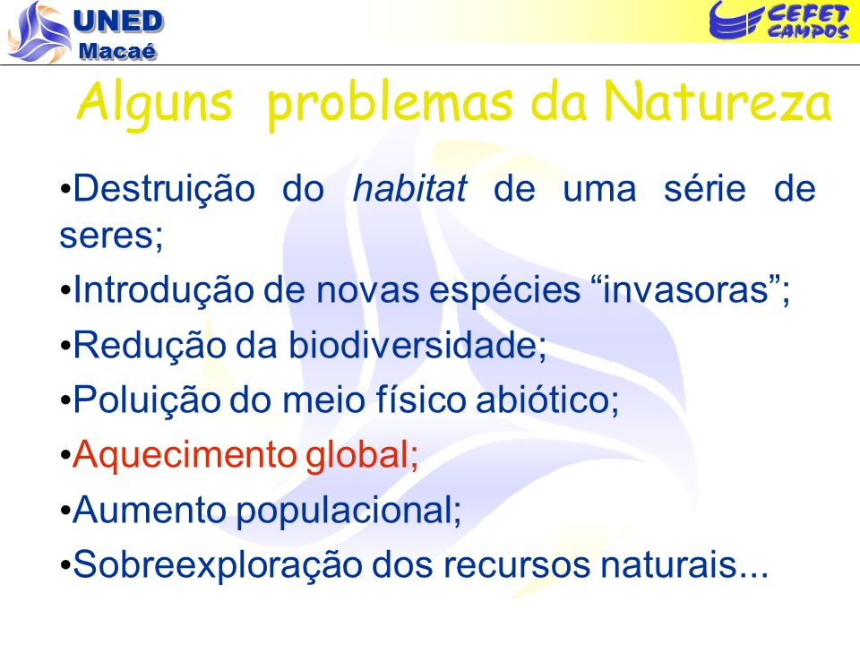 Alguns problemas da Natureza