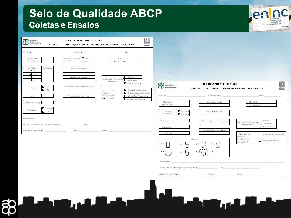 Selo de Qualidade ABCP Coletas e Ensaios 22