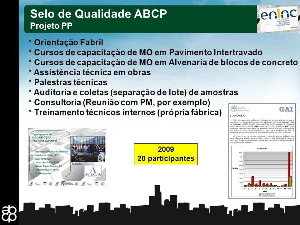 Selo de Qualidade ABCP Projeto PP * Orientação Fabril