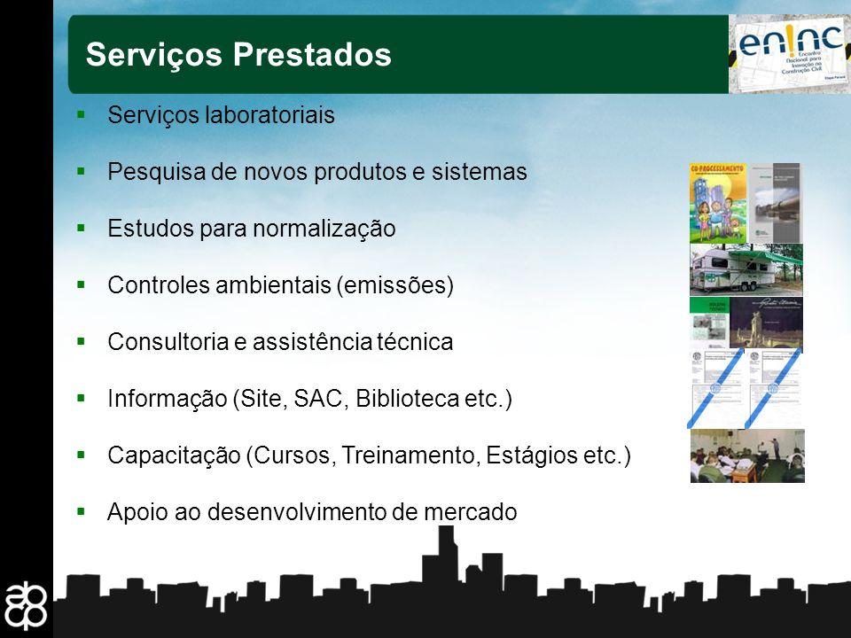 Serviços Prestados Serviços laboratoriais