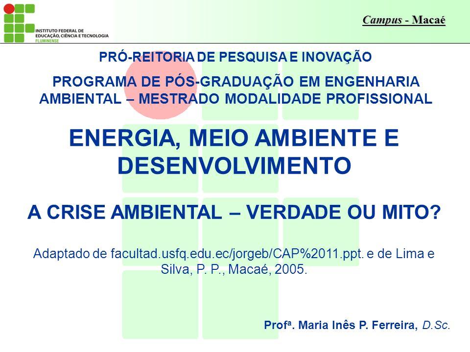 ENERGIA, MEIO AMBIENTE E DESENVOLVIMENTO