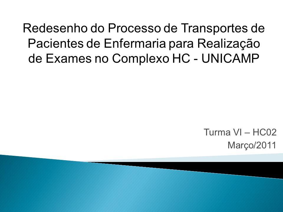 Redesenho do Processo de Transportes de Pacientes de Enfermaria para Realização de Exames no Complexo HC - UNICAMP