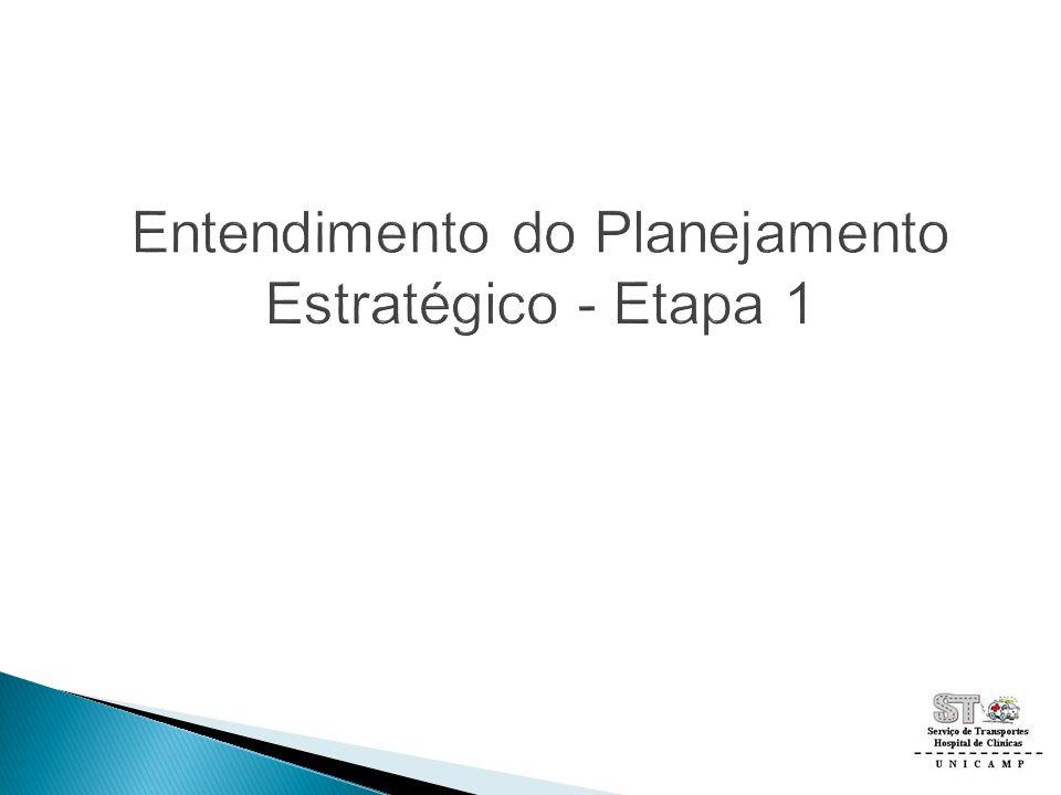 Entendimento do Planejamento Estratégico - Etapa 1