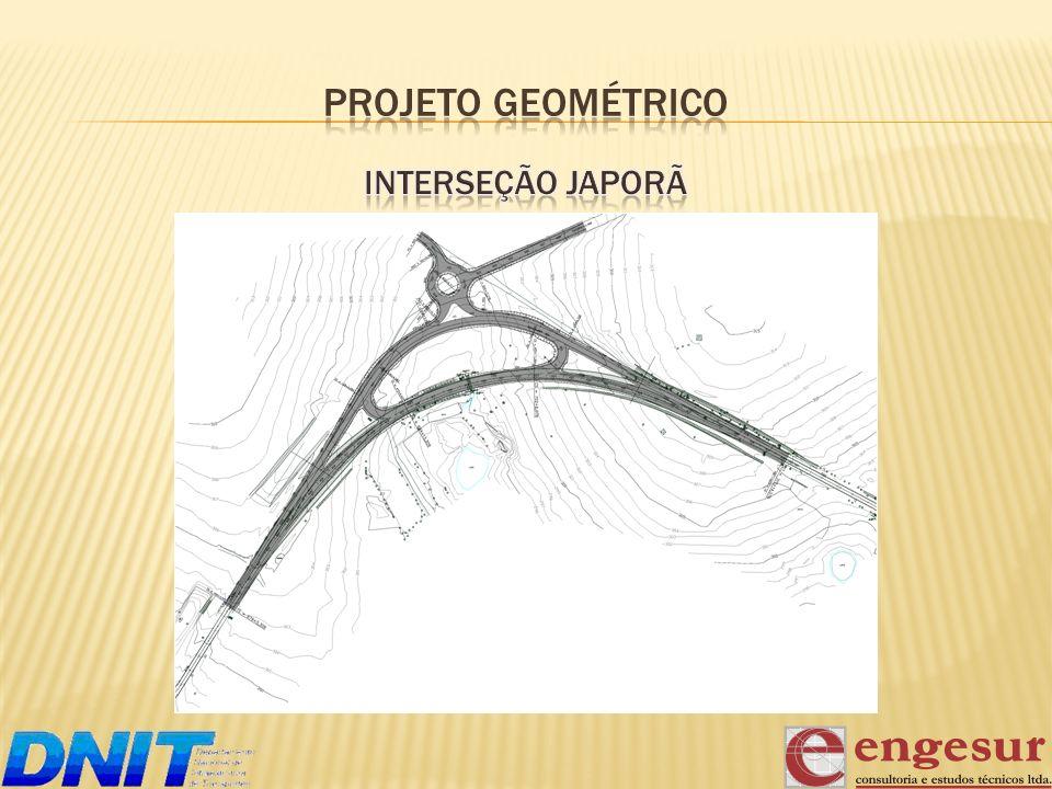 PROJETO GEOMÉTRICO Interseção Japorã