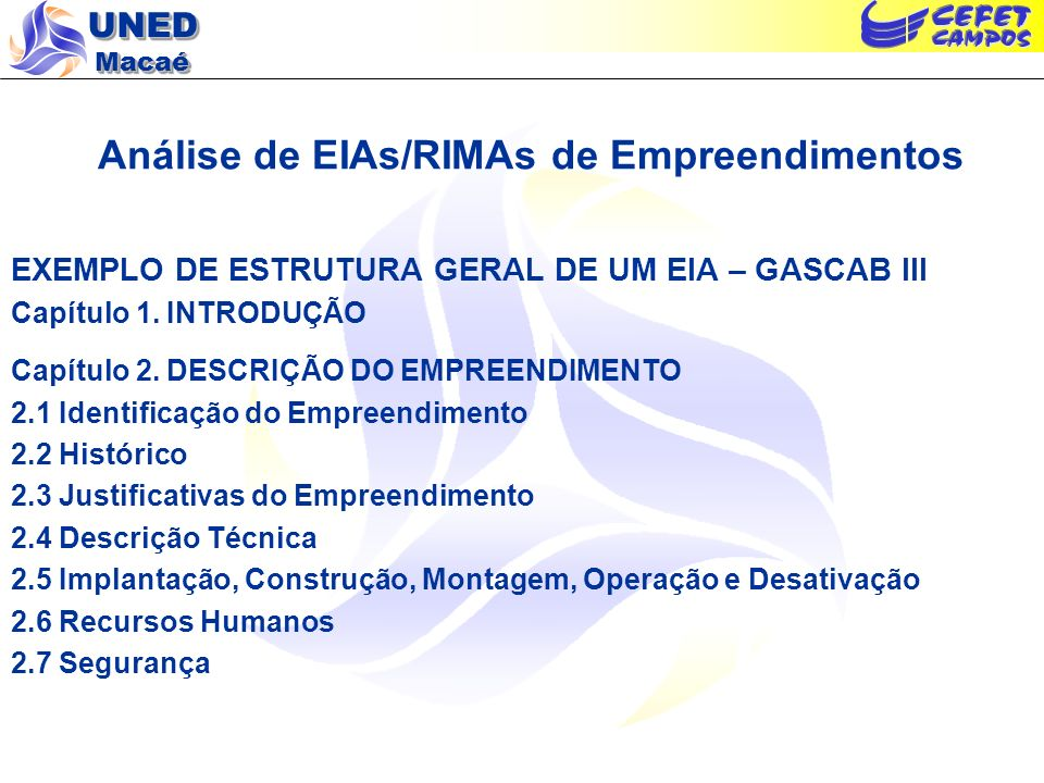 Análise de EIAs/RIMAs de Empreendimentos