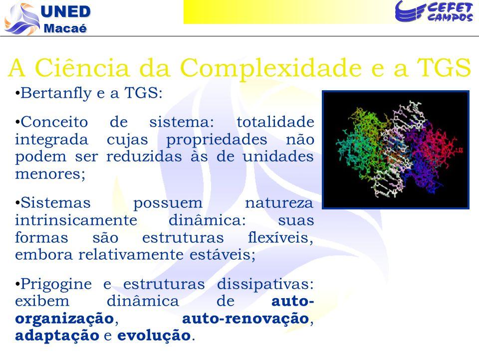 A Ciência da Complexidade e a TGS