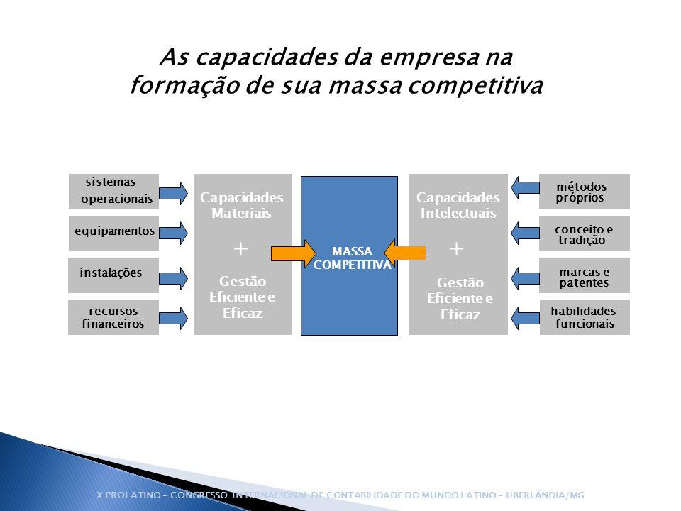 As capacidades da empresa na formação de sua massa competitiva