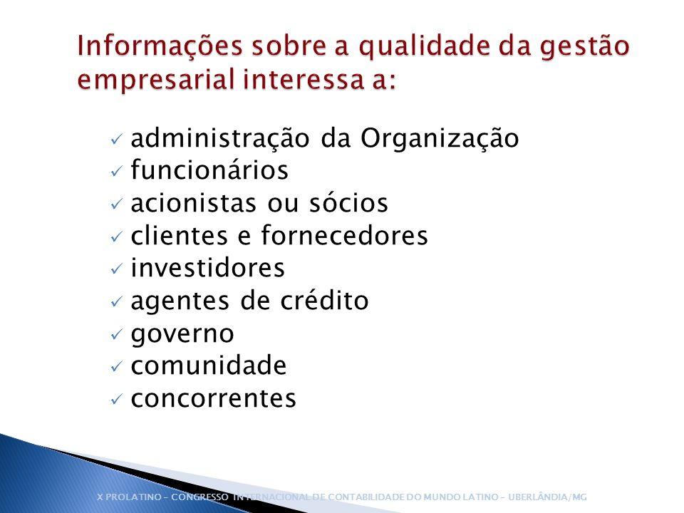 Informações sobre a qualidade da gestão empresarial interessa a: