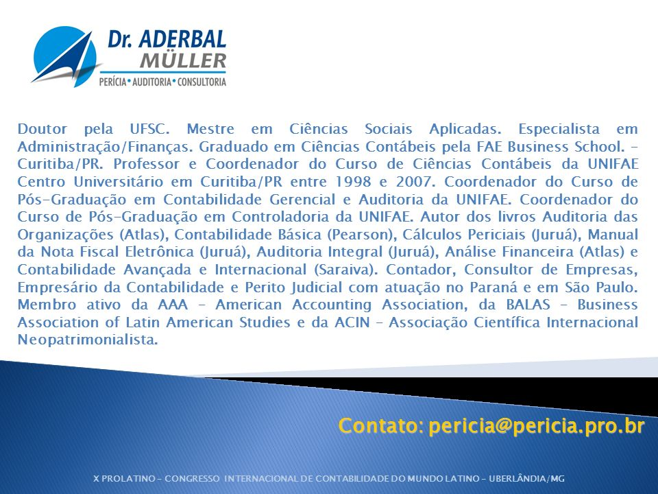 Contato: pericia@pericia.pro.br