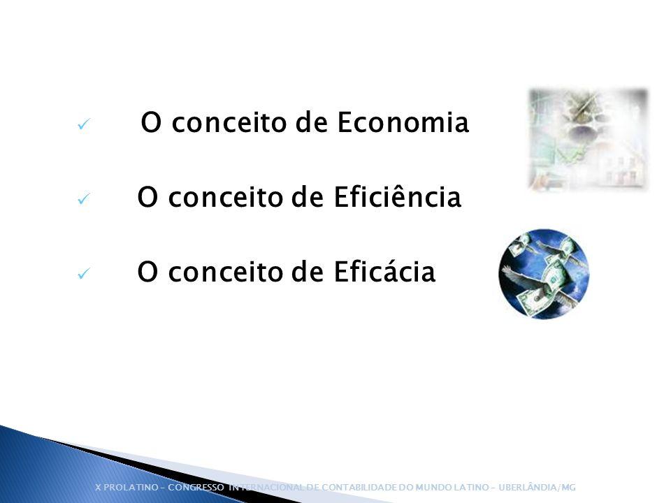 O conceito de Eficiência O conceito de Eficácia