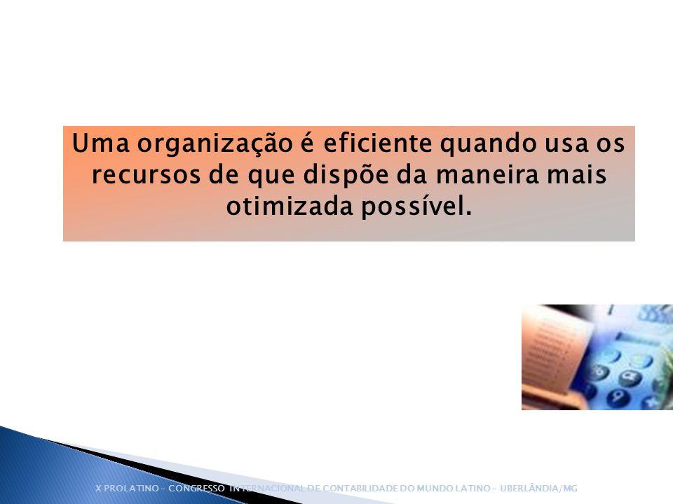 Uma organização é eficiente quando usa os recursos de que dispõe da maneira mais otimizada possível.