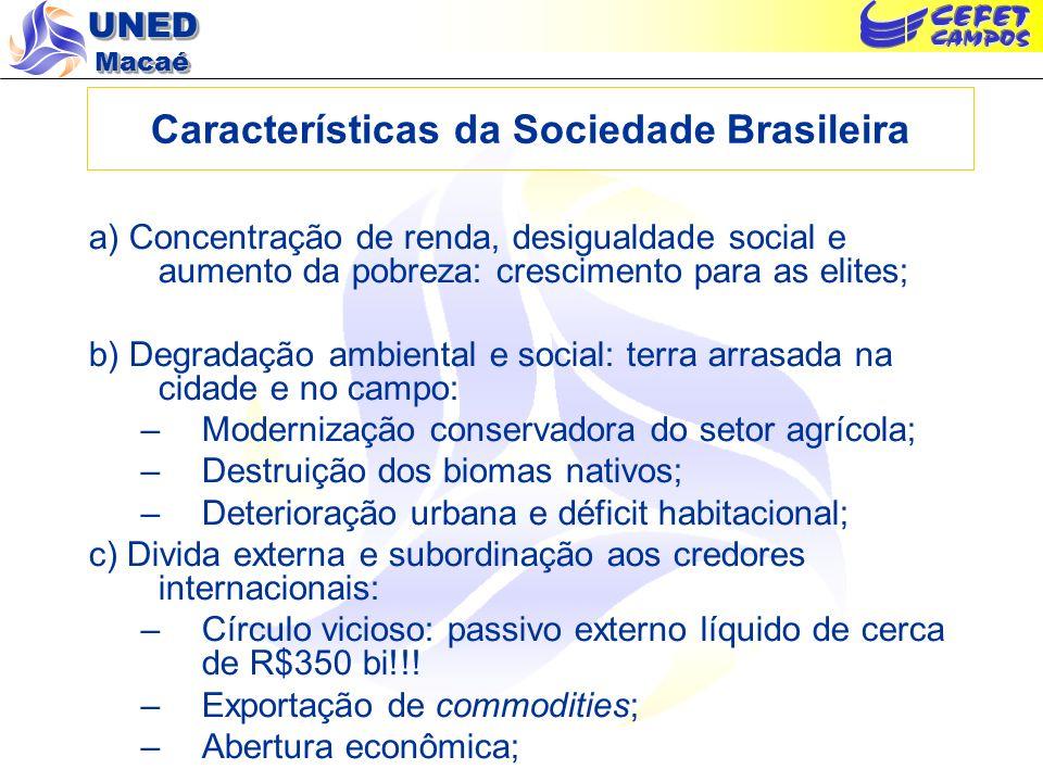 Características da Sociedade Brasileira