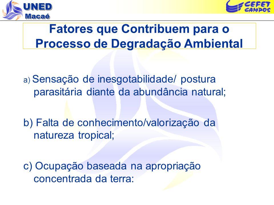 Fatores que Contribuem para o Processo de Degradação Ambiental