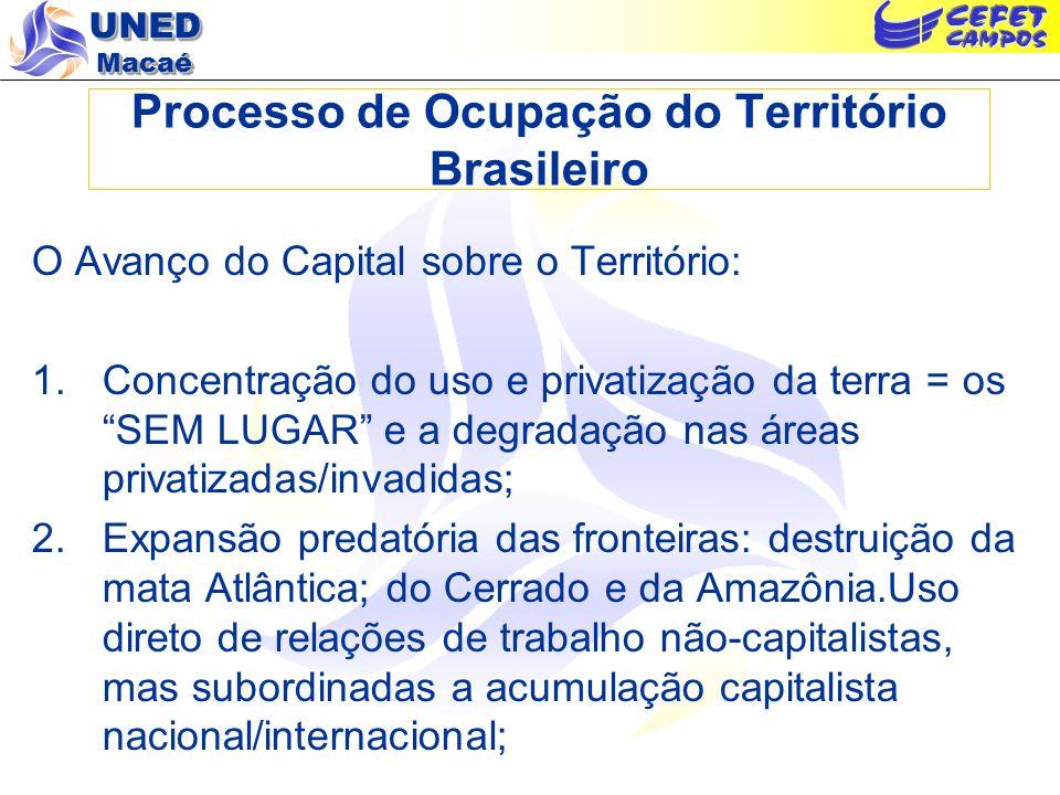 Processo de Ocupação do Território Brasileiro