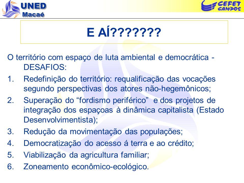 E AÍ O território com espaço de luta ambiental e democrática - DESAFIOS: