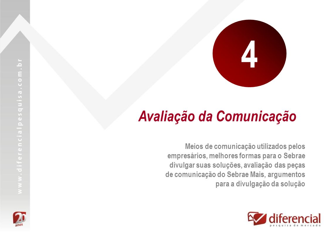 4 Avaliação da Comunicação