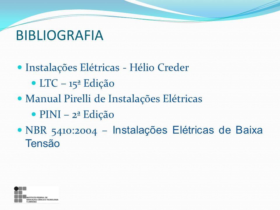 BIBLIOGRAFIA Instalações Elétricas - Hélio Creder LTC – 15ª Edição