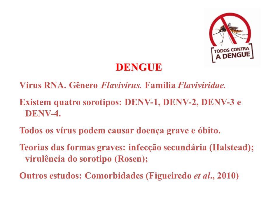 DENGUE Vírus RNA. Gênero Flavivírus. Família Flaviviridae.