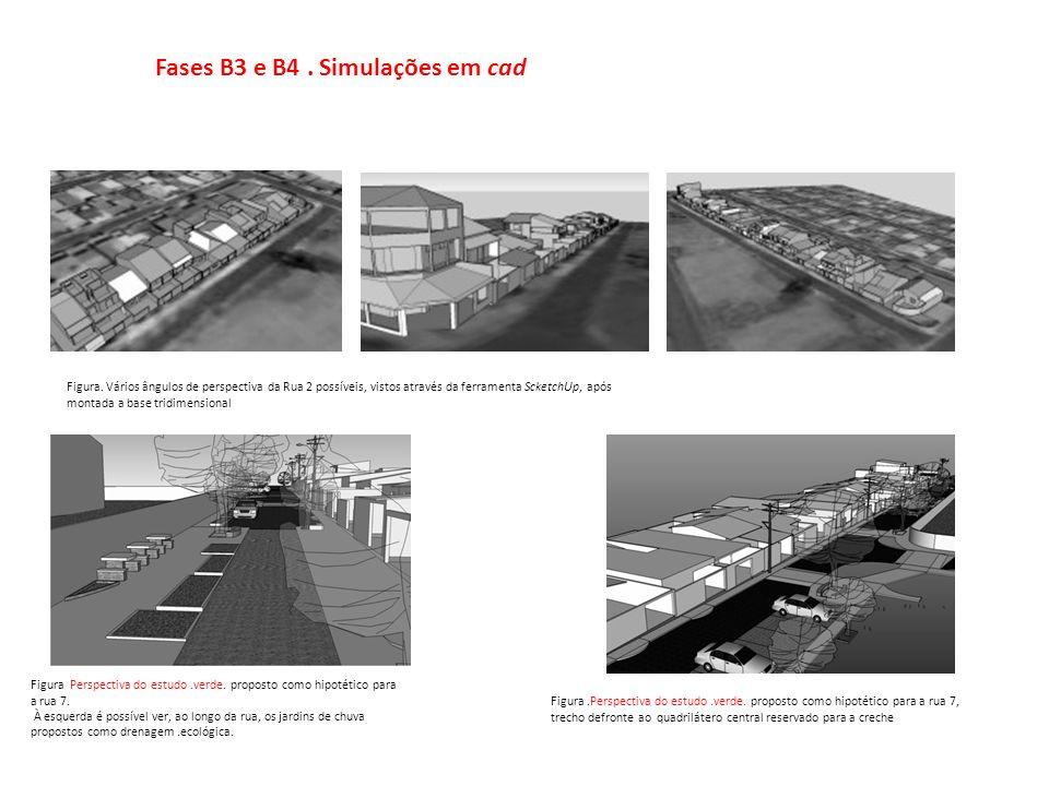 Fases B3 e B4 . Simulações em cad