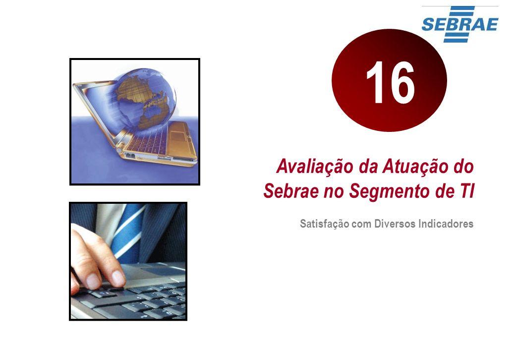 16 Avaliação da Atuação do Sebrae no Segmento de TI