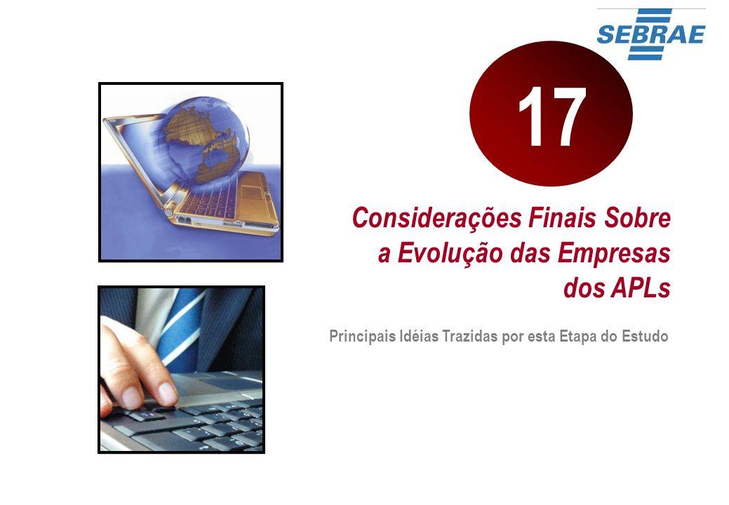 17 Considerações Finais Sobre a Evolução das Empresas dos APLs