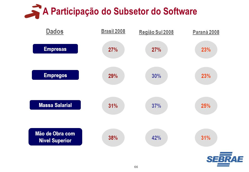 A Participação do Subsetor do Software