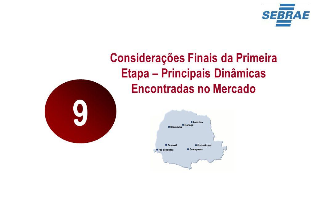 Considerações Finais da Primeira Etapa – Principais Dinâmicas Encontradas no Mercado