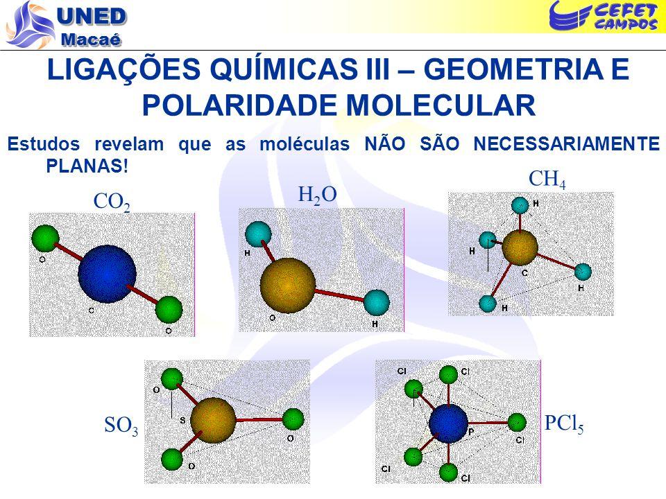 LIGAÇÕES QUÍMICAS III – GEOMETRIA E POLARIDADE MOLECULAR