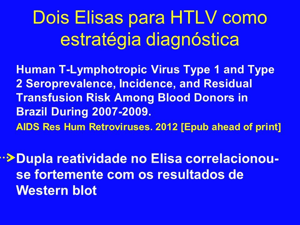 Dois Elisas para HTLV como estratégia diagnóstica