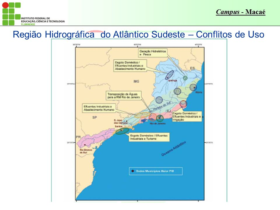 Região Hidrográfica do Atlântico Sudeste – Conflitos de Uso