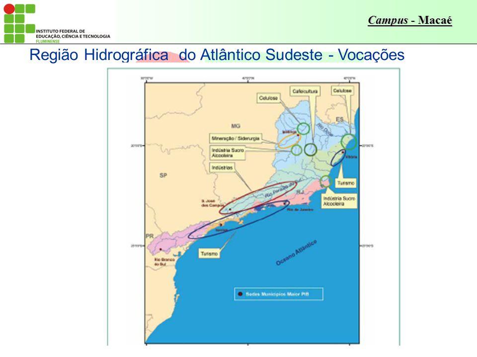 Região Hidrográfica do Atlântico Sudeste - Vocações