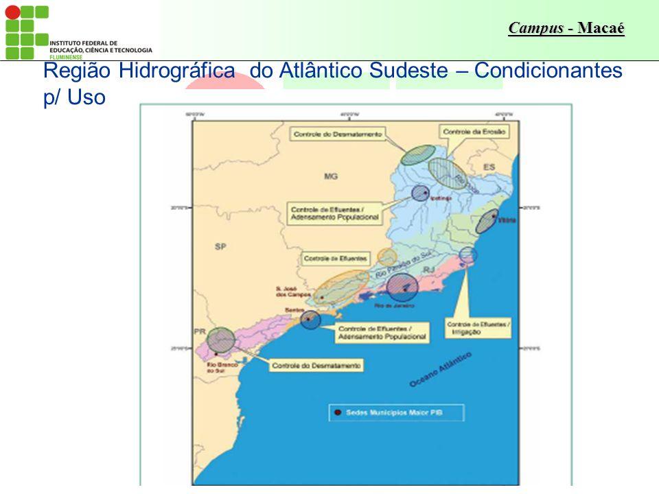 Região Hidrográfica do Atlântico Sudeste – Condicionantes p/ Uso