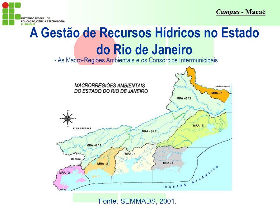 A Gestão de Recursos Hídricos no Estado do Rio de Janeiro