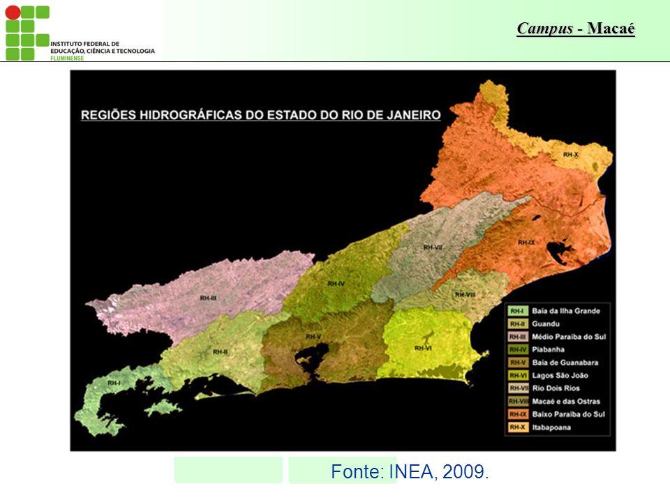 Fonte: INEA, 2009.