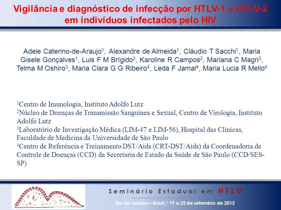 Vigilância e diagnóstico de infecção por HTLV-1 e HTLV-2 em indivíduos infectados pelo HIV