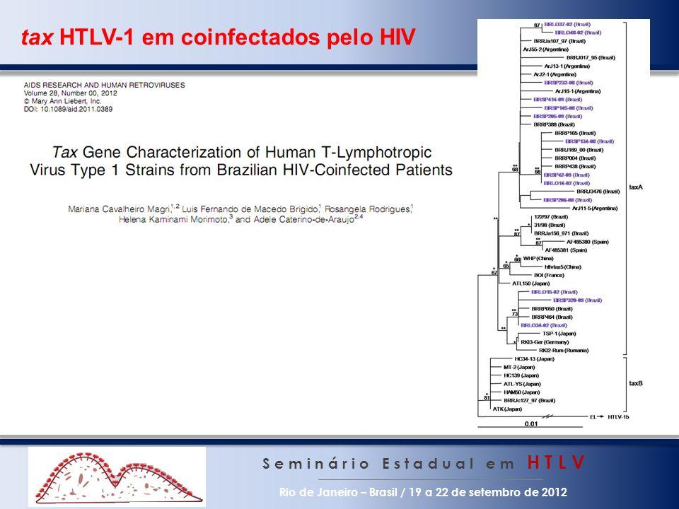 tax HTLV-1 em coinfectados pelo HIV