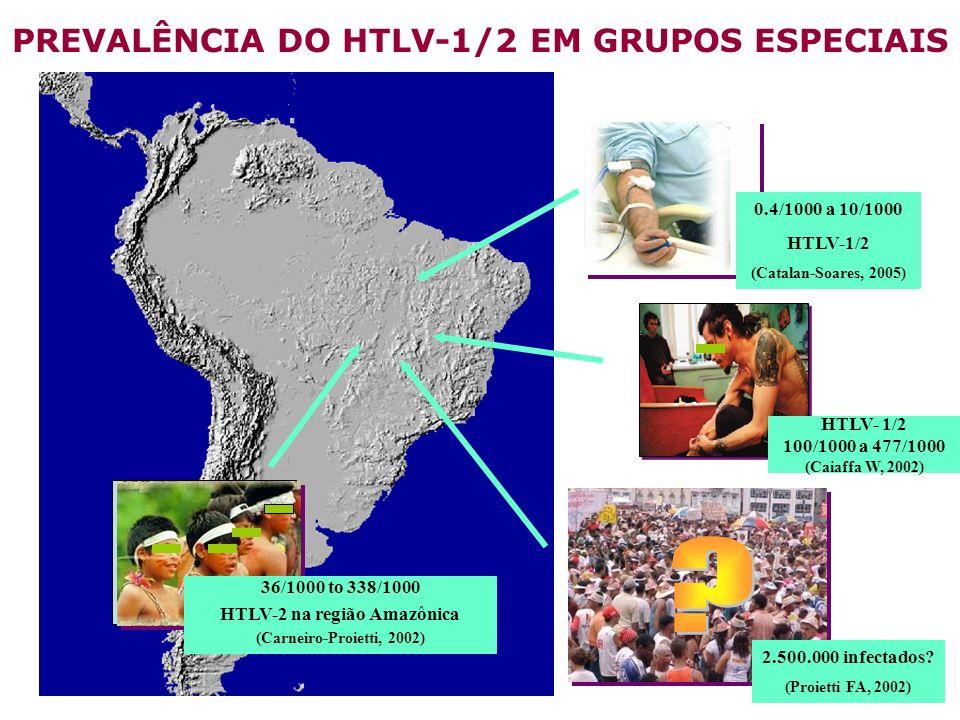 PREVALÊNCIA DO HTLV-1/2 EM GRUPOS ESPECIAIS HTLV-2 na região Amazônica