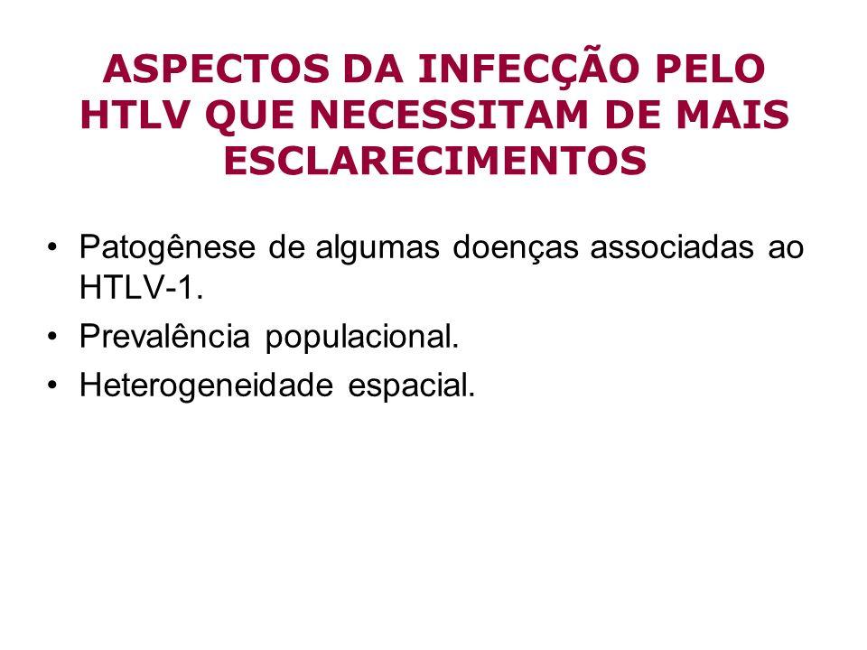 ASPECTOS DA INFECÇÃO PELO HTLV QUE NECESSITAM DE MAIS ESCLARECIMENTOS
