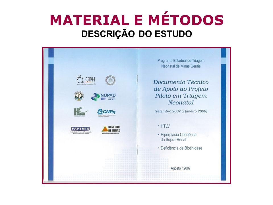 MATERIAL E MÉTODOS DESCRIÇÃO DO ESTUDO