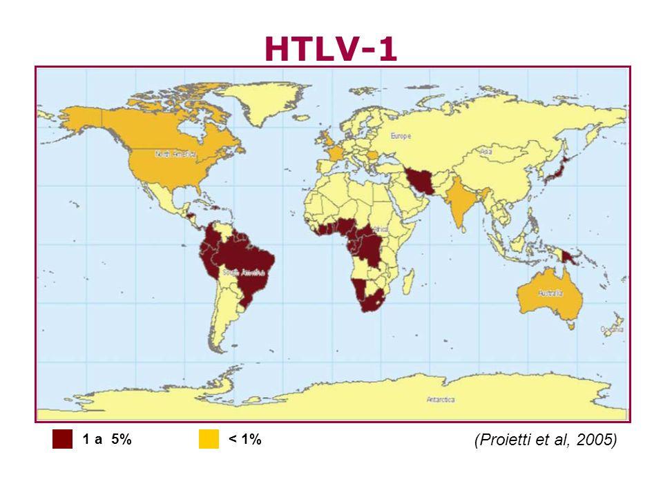HTLV-1 1 a 5% < 1% (Proietti et al, 2005)