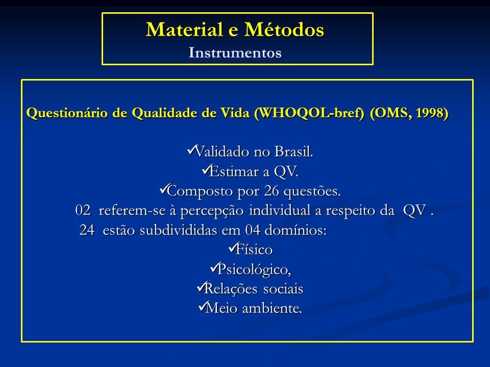 Material e Métodos Instrumentos