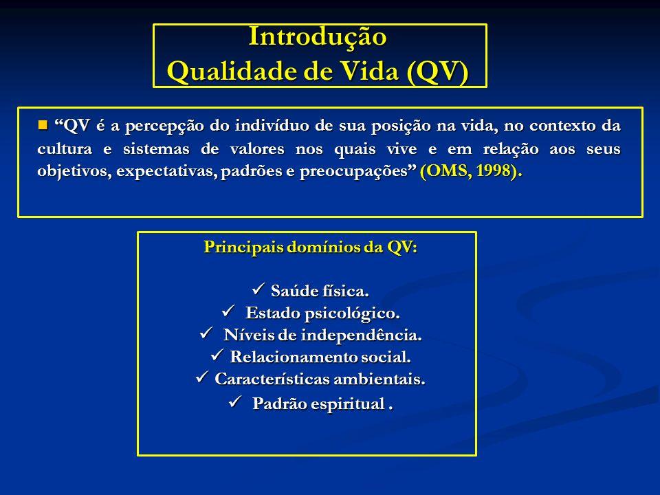 Introdução Qualidade de Vida (QV)
