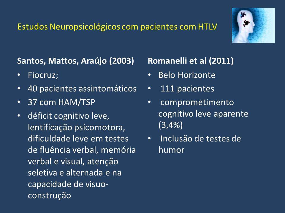Estudos Neuropsicológicos com pacientes com HTLV