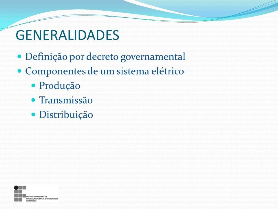 GENERALIDADES Definição por decreto governamental