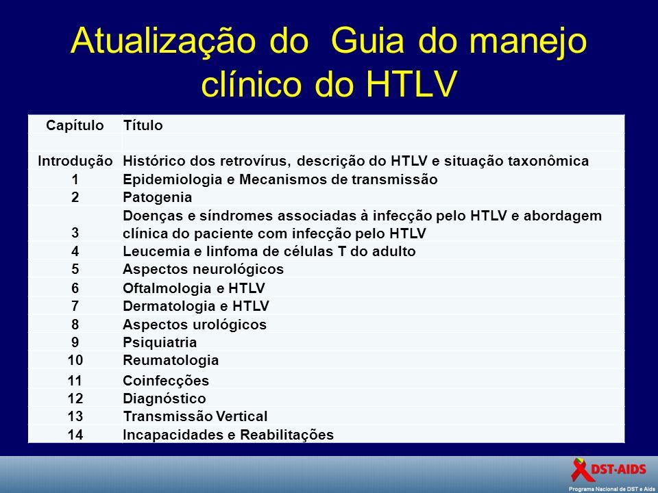 Atualização do Guia do manejo clínico do HTLV