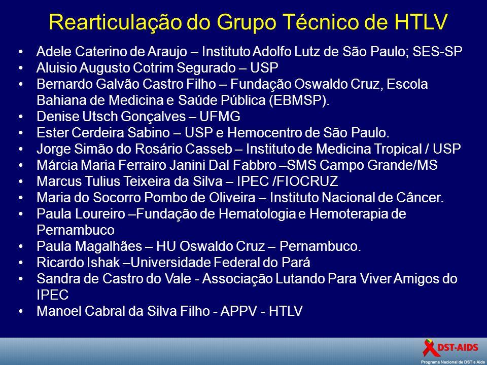 Rearticulação do Grupo Técnico de HTLV
