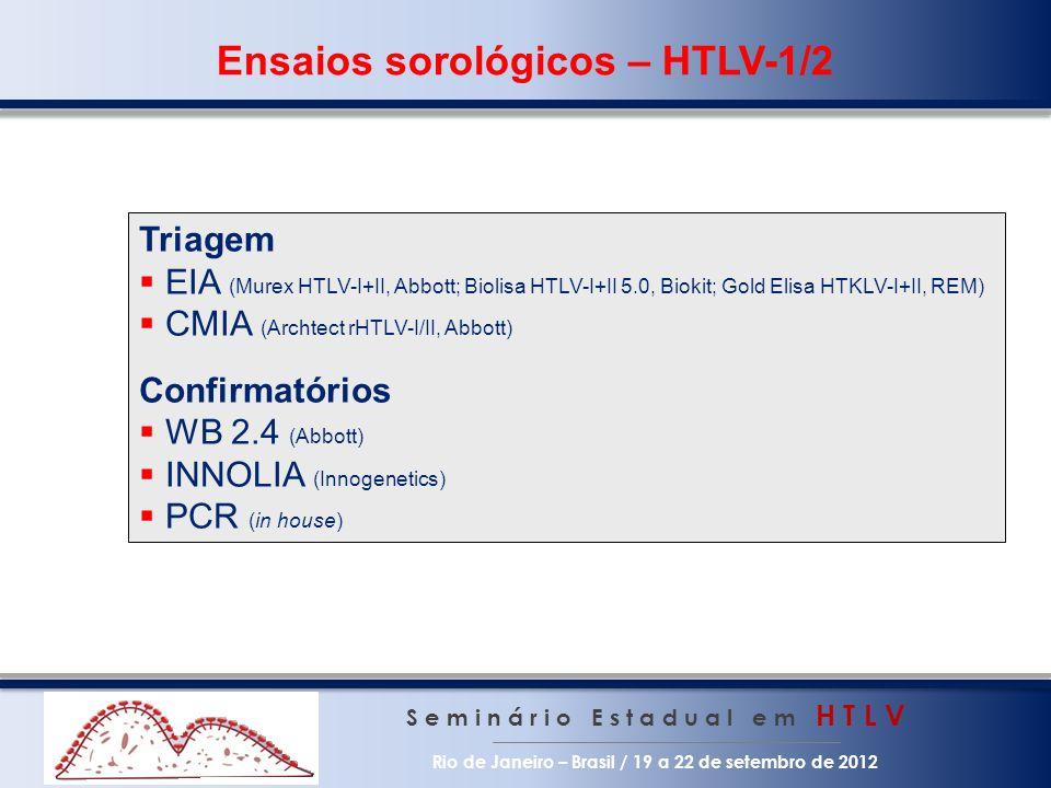 Ensaios sorológicos – HTLV-1/2