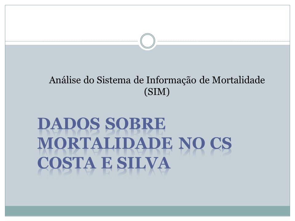 Dados sobre mortalidade no CS Costa e Silva