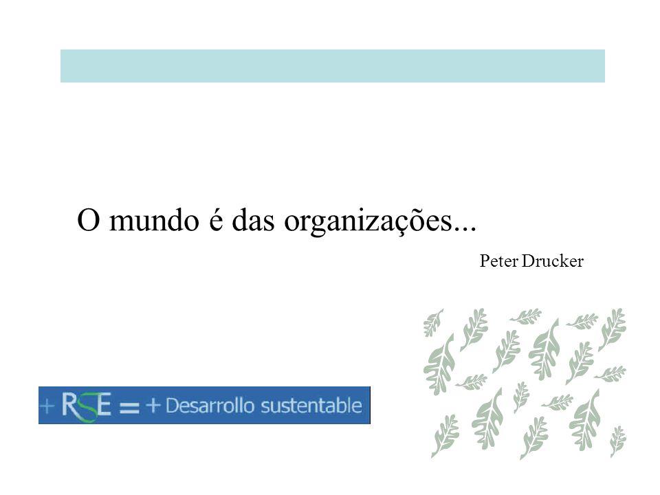 O mundo é das organizações...