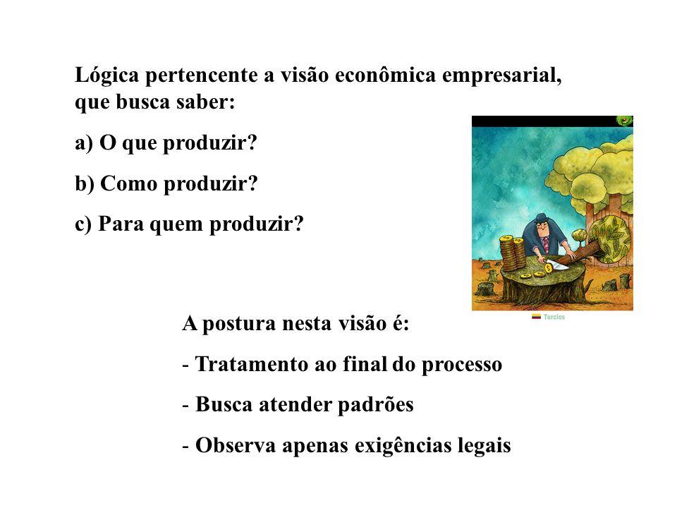 Lógica pertencente a visão econômica empresarial, que busca saber: